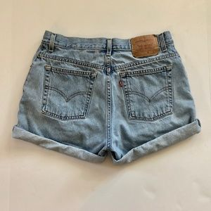 Vintage Levi's light wash high waist shorts